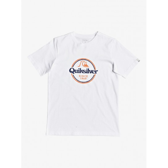 T-shirt Quiksilver Words Remainy II JR - Branca