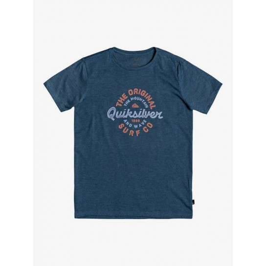 T-shirt Quiksilver Motorcycle Jr - Azul
