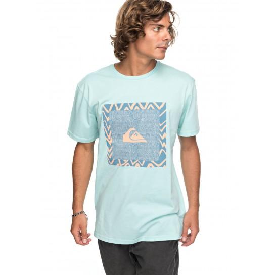 T-shirt Quiksilver Classic Nano Spano - Eggshell Blue