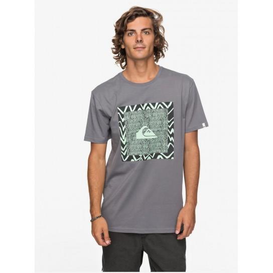 T-shirt Quiksilver Classic Nano Spano - Cinza