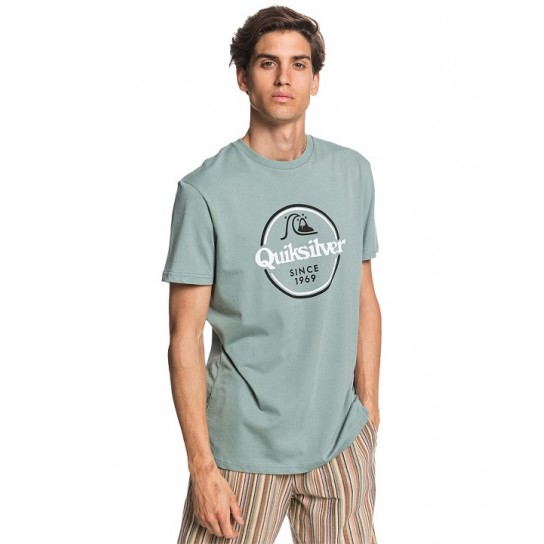 T-shirt Quiksilver Words Remain - Verde