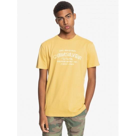 T-shirt Quiksilver Wider Mile - Amarelo