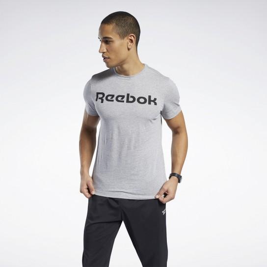 T-shirt Graphic Series Reebok Linear read - Cinza
