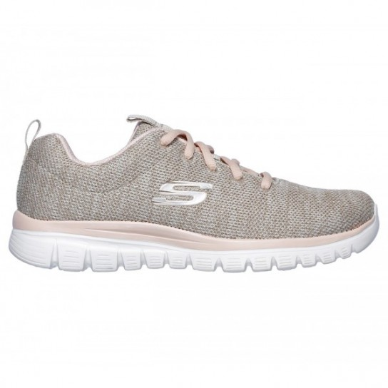 Skechers Graceful Twisted Fortune - Natural/Coral