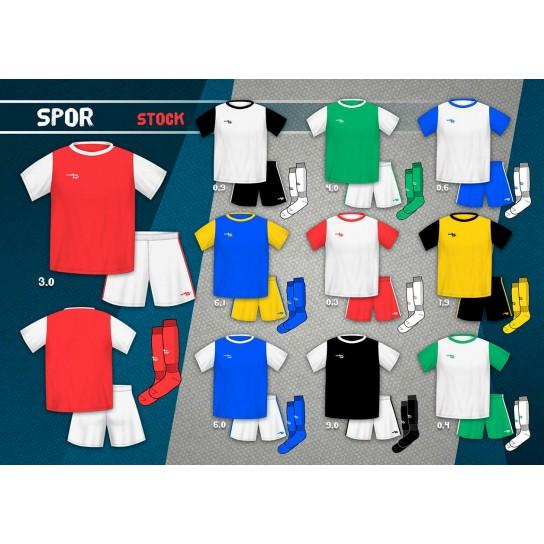 Kit Strike Spor (camisola+calção+meia) publicidade e emblema incluído